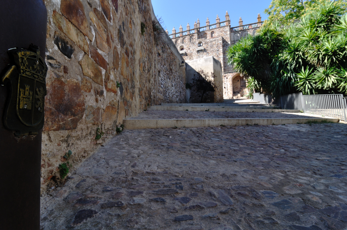 Steps toward the Museum of Caceres
