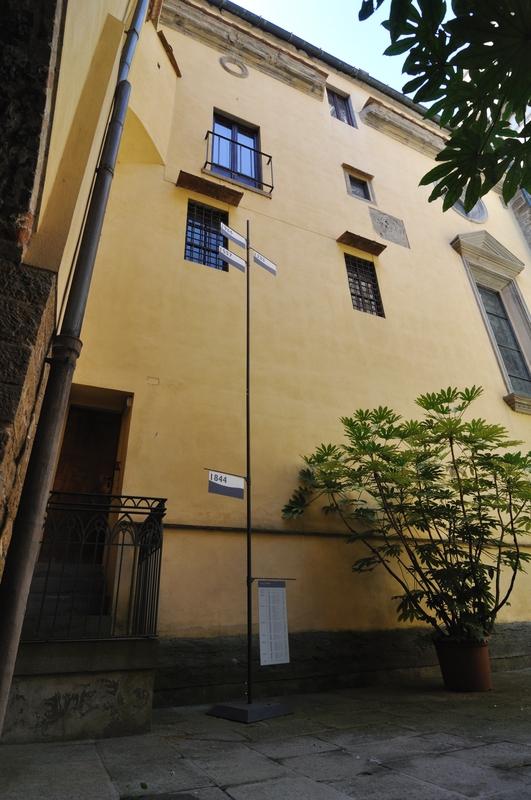 Les hauteurs des différentes crues à Florence
