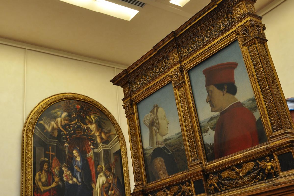 Godefroy de Montmirail et Cunégonde (duc et duchesse d'Urbinos vus par Pierro della Francesca)